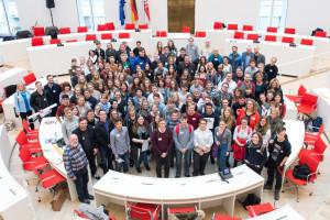 Treffen der Schulen ohne Rassismus - Schulen mit Courage 2016 im Landtag in Potsdam